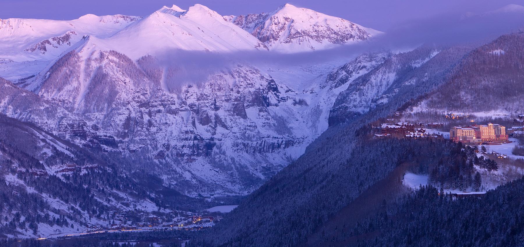 Telluride Winter Alpenglow